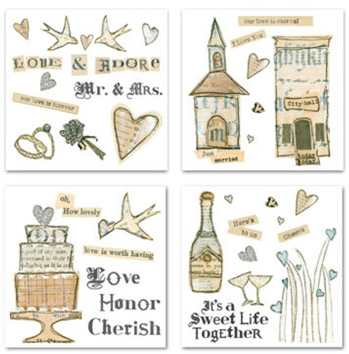 Love & Adore Wedding Collection Swatchpack Rub-Ons by Creative Imaginations