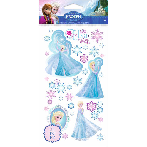 Disney Frozen Collection Elsa & Snowflakes 4 x 8 Flat Stickers by EK Success