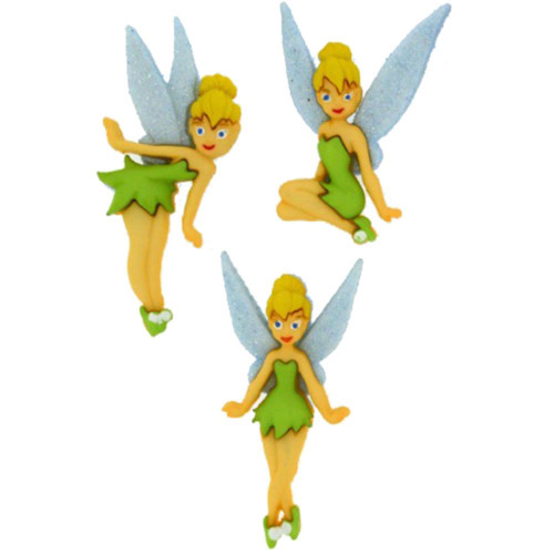 Disney Dress It Up Collection Tinkerbell Scrapbook Button Embellishments by Jesse James Buttons