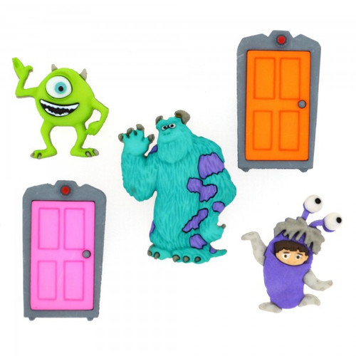 Disney Dress It Up Collection Monsters Inc. Scrapbook Button Embellishments by Jesse James Buttons