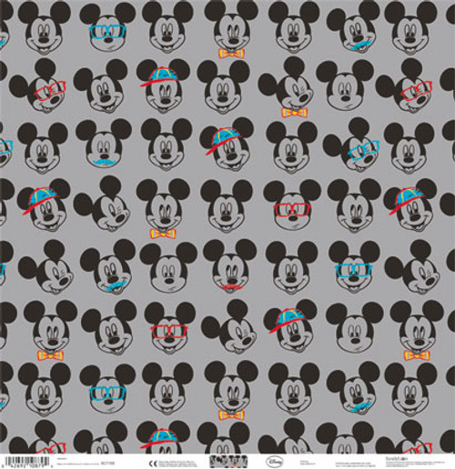 Disney Mickey Mouse Collection Hipster Mickey 12 x 12 Scrapbook Paper by Sandylion