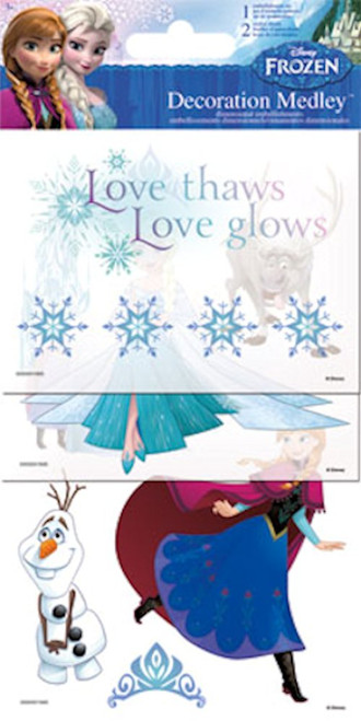 Disney Frozen Collection Anna & Elsa Decoration Medley Embellishment Pack by Sandylion
