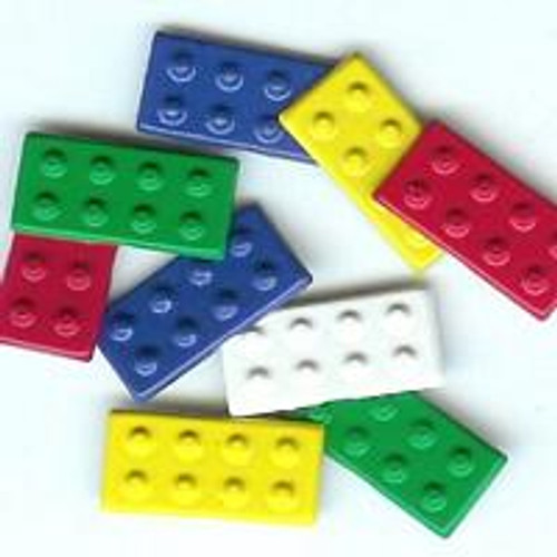 Primary Color Building Block Brads by Eyelet Outlet - Pkg. of 12