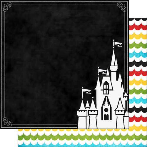 Magical Day of Fun Collection Magical Castle 12 x 12 Double-Sided Scrapbook Paper by Scrapbook Customs