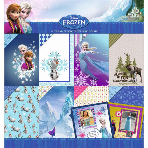 Disney Frozen Collection Designer Scrapbook Paper Pad by EK Success - 36 Double-Sided Scrapbook Papers