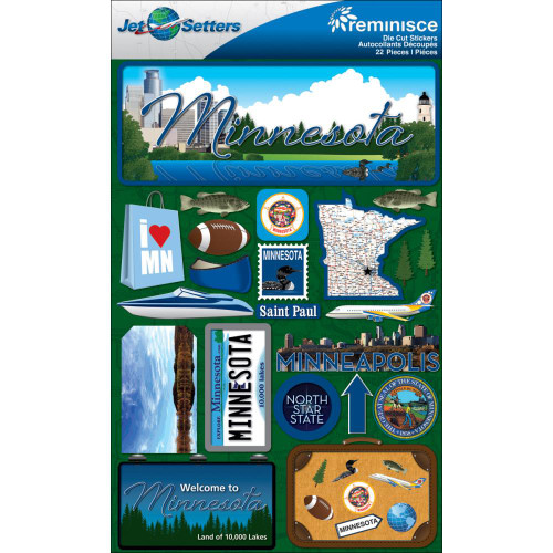 Jetsetters Collection Minnesota 5 x 7 Scrapbook Embellishment by Reminisce