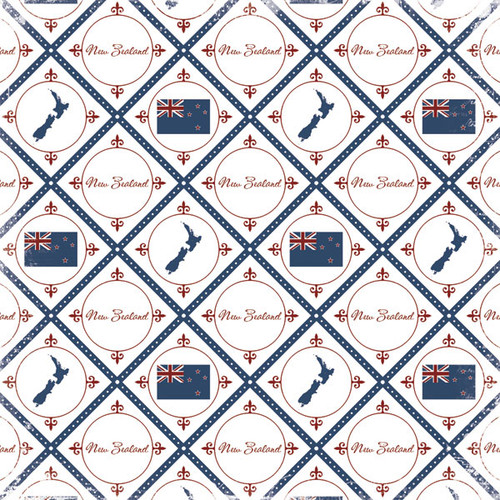 Discover Collection New Zealand 12 x 12 Scrapbook Paper by Scrapbook Customs