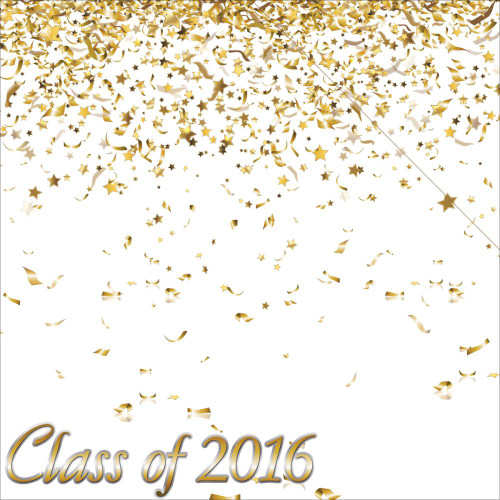 The Graduate Collection Class of 2016 12 x 12 Double-Sided Scrapbook Paper by Reminisce