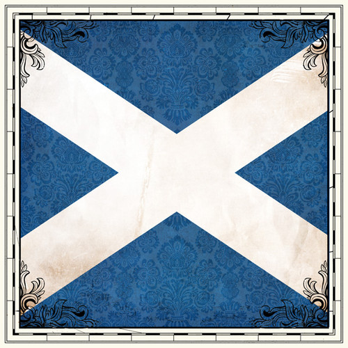 Sightseeing Collection Scotland Flag 12 x 12 Scrapbook Paper by Scrapbook Customs