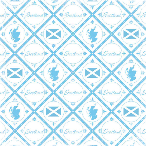 Discover Collection Scotland 12 x 12 Scrapbook Paper by Scrapbook Customs
