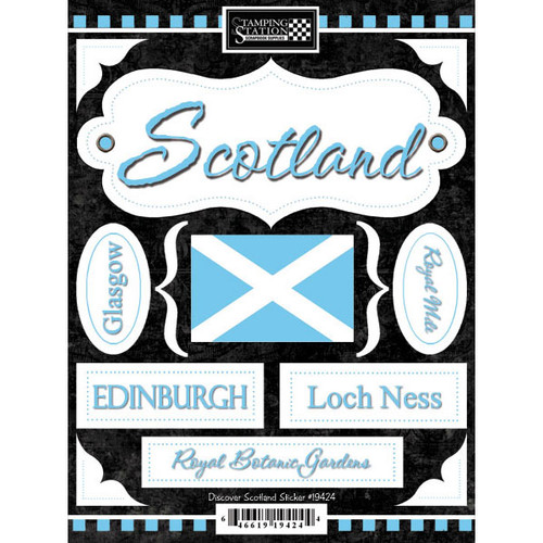Discover Collection Scotland 6 x 9 Scrapbook Stickers by Scrapbook Customs