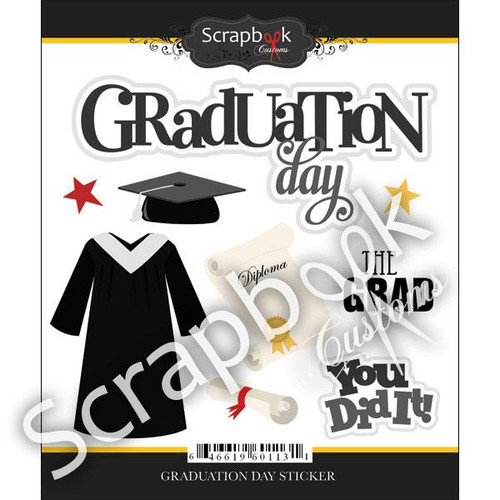 Graduation Day Collection 5 x 6 Scrapbook Sticker Sheet