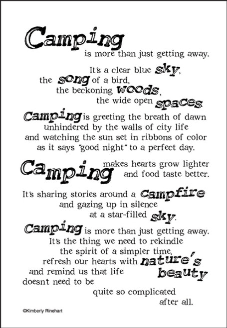 A Poem For A Page Collection Camping 5 x 7 Scrapbook Sticker Sheet by It Takes Two