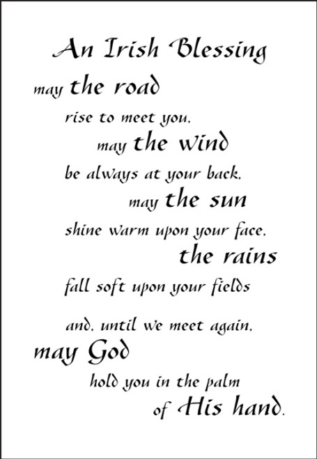 A Poem For A Page Collection An Irish Blessing 5 x 7 Scrapbook Sticker Sheet by It Takes Two