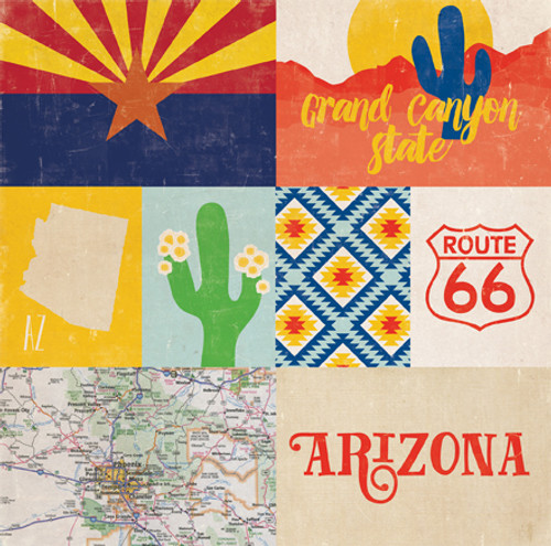Stateside Collection Arizona 12 x 12 Double-Sided Scrapbook Paper by Echo Park Paper