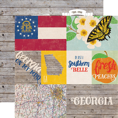 Stateside Collection Georgia 12 x 12 Double-Sided Scrapbook Paper by Echo Park Paper