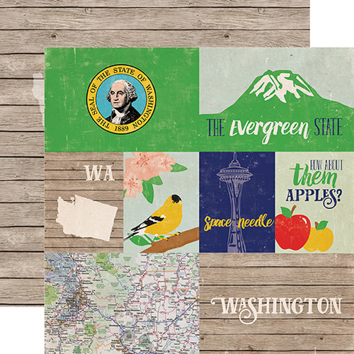 Stateside Collection Washington 12 x 12 Double-Sided Scrapbook Paper by Echo Park Paper