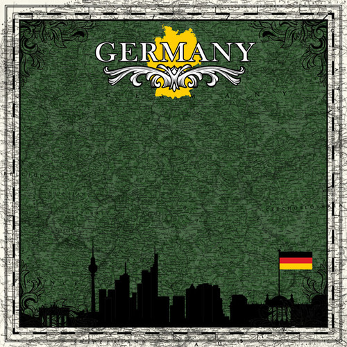 Sightseeing Collection Germany 12 x 12 Scrapbook Paper by Scrapbook Customs