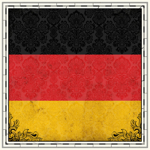 Sightseeing Collection Germany Flag 12 x 12 Scrapbook Paper by Scrapbook Customs
