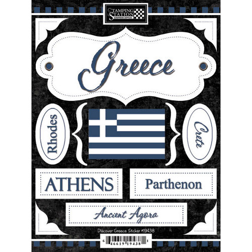 Discover Collection Greece 6 x 9 Scrapbook Stickers by Scrapbook Customs