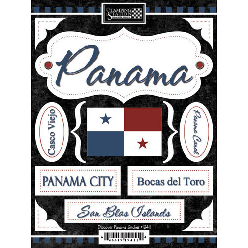 Discover Collection Panama 6 x 9 Scrapbook Stickers by Scrapbook Customs