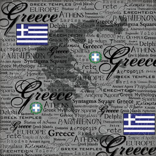 Scratchy Collection Greece 12 x 12 Scrapbook Paper by Scrapbook Customs