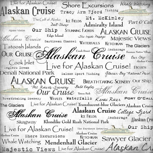 Cruise Collection Alaskan Cruise 12 x 12 Scrapbook Paper by Scrapbook Customs