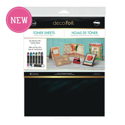 Deco Foil Heat-Activated Toner Sheets by Thermoweb - 3 Pieces