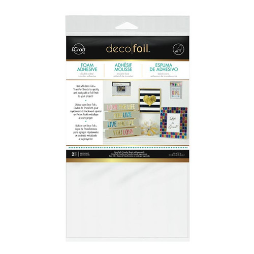 Deco Foil Foam Adhesive Double-Sided Sheets by Thermoweb - 2 Pieces