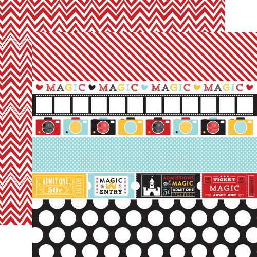 Magical Adventure Collection Border Strips 12 x 12 Double-Sided Scrapbook Paper by Echo Park Paper