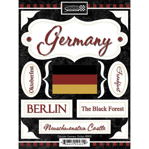 Discover Collection Germany 6 x 9 Scrapbook Stickers by Scrapbook Customs