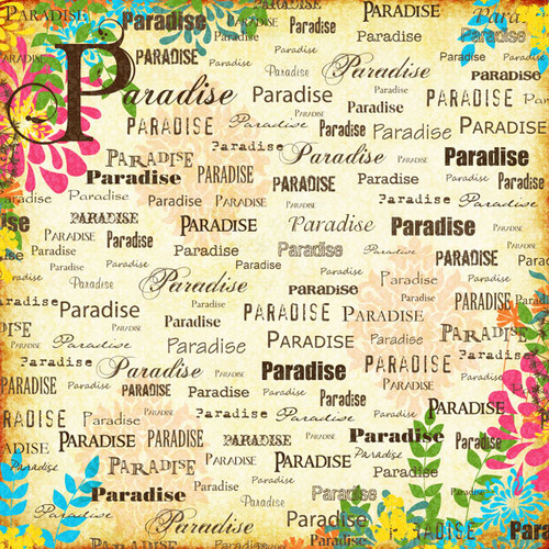 Paradise Collection Orange Paradise Companion 12 x 12 Scrapbook Paper by Scrapbook Customs