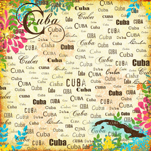 Paradise Collection Cuba 12 x 12 Scrapbook Paper by Scrapbook Customs