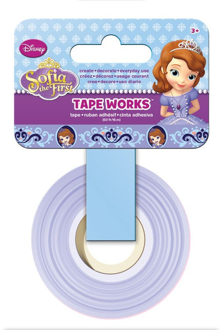 Disney Princess Collection Sofia The First Self-Adhesive Tape Works by Sandylion - 50 Feet