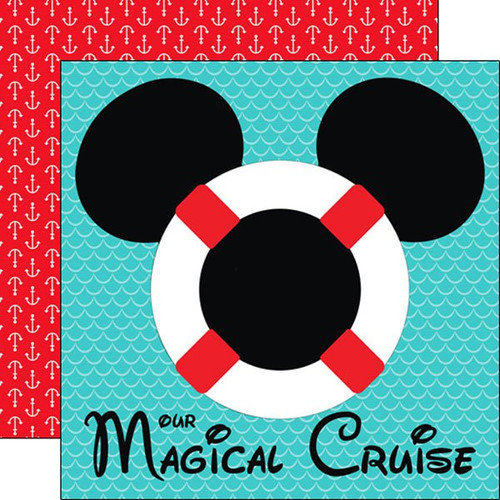 Magical Cruise Collection Our Magical Cruise 12 x 12 Scrapbook Paper by Scrapbook Customs