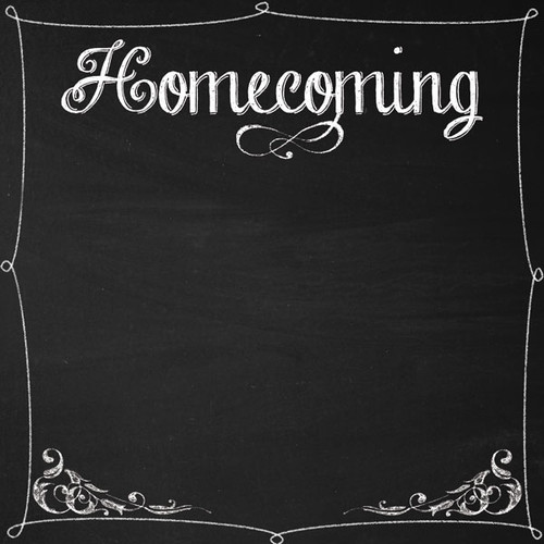 Homecoming Collection Homecoming Chalkboard 12 x 12 Scrapbook Paper by Scrapbook Customs