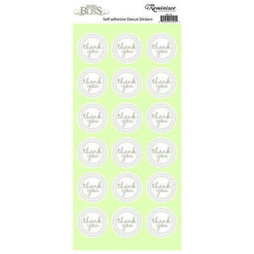 Wedded Bliss Collection Thank You Self-Adhesive Die Cut Stickers by Reminisce