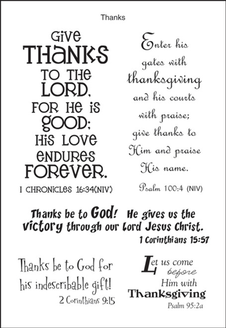 A Poem For A Page Collection Give Thanks To The Lord 5 x 7 Scrapbook Sticker Sheet by It Takes Two
