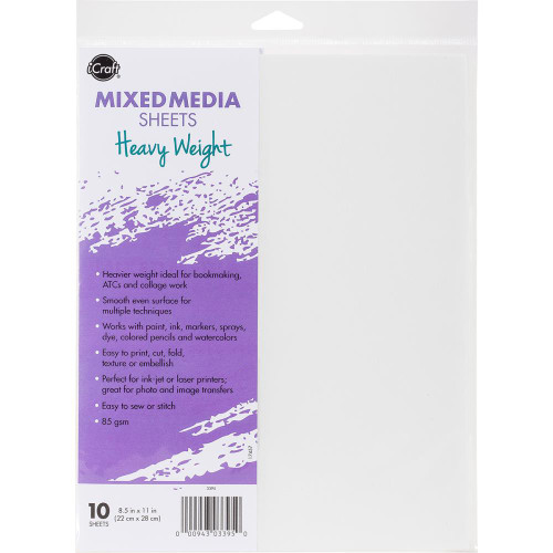 iCraft Collection Mixed Media Heavyweight 8.5 x 11 Sheets by Therm O Web - 10 Sheets
