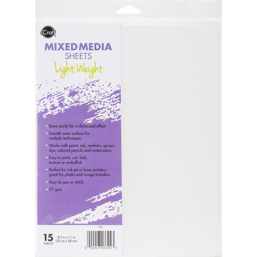 iCraft Collection Mixed Media Lightweight 8.5 x 11 Sheets by Therm O Web - 15 Sheets