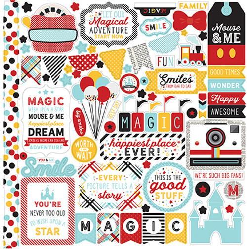 Magic & Wonder Collection Elements 12 x 12 Cardstock Scrapbook Sticker Sheet by Echo Park Paper