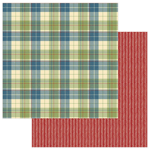 Campfire Collection Flannel Shirt 12 x 12 Double-Sided Scrapbook Paper by Photo Play