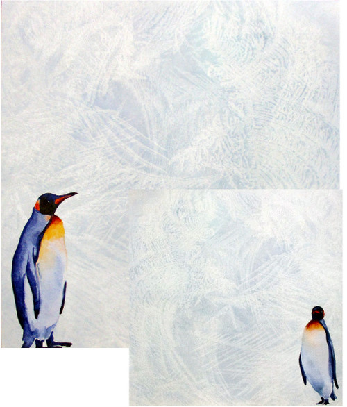 African Safari Collection Penguin Safari 12 x 12 Double-Sided Scrapbook Paper by Scrapbook Customs