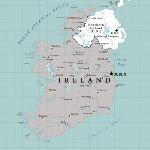 Travel Adventure Collection Ireland Map12 x 12 Double-Sided Scrapbook Paper by Scrapbook Customs