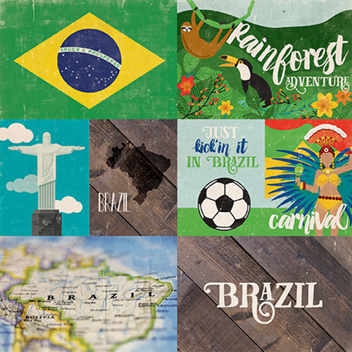 Around The World Collection Brazil 12x12 Double-Sided Paper by Echo Park Paper
