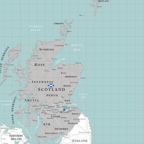 Travel Adventure Collection Scotland Map 12 x 12 Double-Sided Scrapbook Paper by Scrapbook Customs