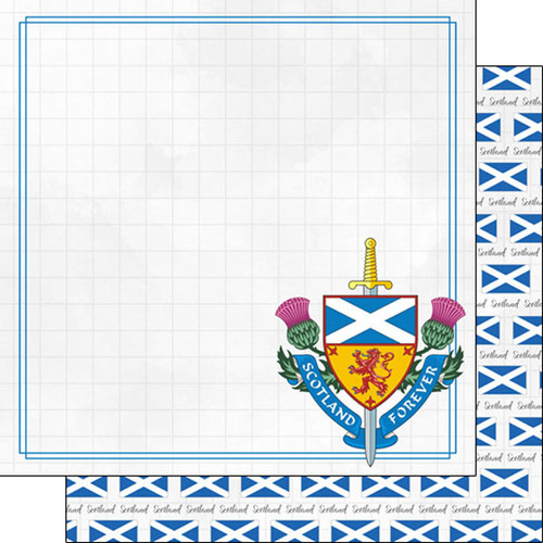 Travel Adventure Collection Scotland Companion 12 x 12 Double-Sided Scrapbook Paper by Scrapbook Customs