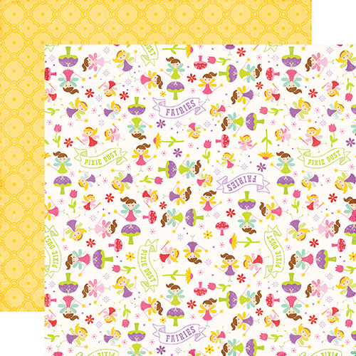 Perfect Princess Collection Pixie Dust 12 x 12 Double-Sided Scrapbook Paper by Echo Park Paper