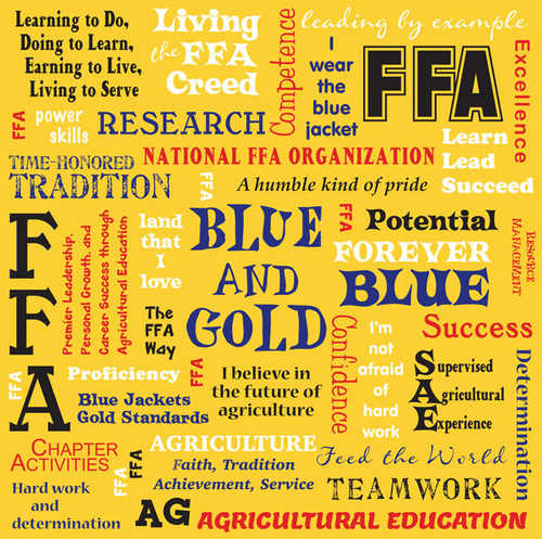 FFA - Future Farmers of America Collection FFA Traditional Words 12 x 12 Double-Sided Scrapbook Paper by It Takes Two