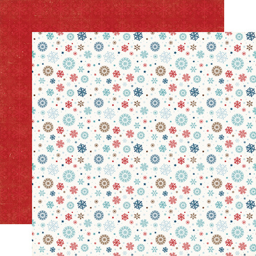 I Love Winter Collection Let It Snow 12 x 12 Double-Sided Scrapbook Paper by Echo Park Paper